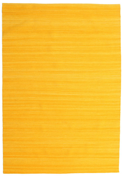Kilim Loom - Yellow Rug 160X230 Authentic  Modern Handwoven Orange (Wool, India)