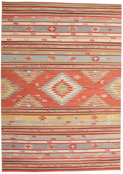 Kilim Mersin Rug 160X230 Authentic  Modern Handwoven Rust Red/Dark Red (Wool, India)