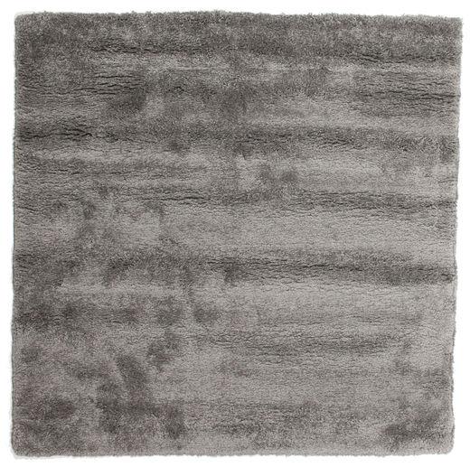 Shaggy Sadeh - Grey Rug 200X200 Modern Square Dark Grey/Light Grey ( Turkey)