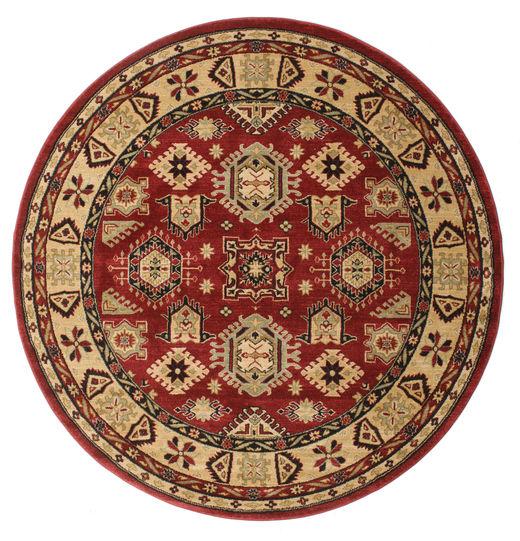 Shirvan Kazak Rug Ø 200 Oriental Round Dark Red/Light Brown ( Turkey)