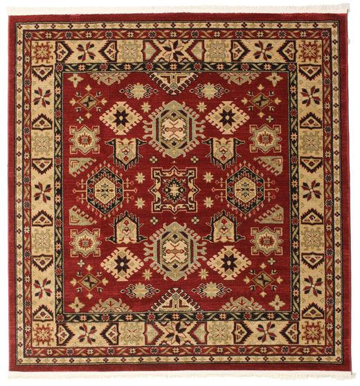 Shirvan Kazak Rug 200X200 Oriental Square Dark Red/Light Brown ( Turkey)