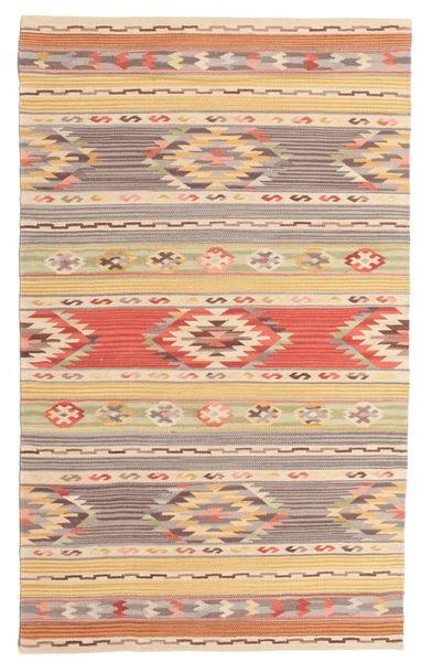 Kilim Nimrud Rug 100X160 Authentic  Modern Handwoven Yellow/Beige (Wool, India)
