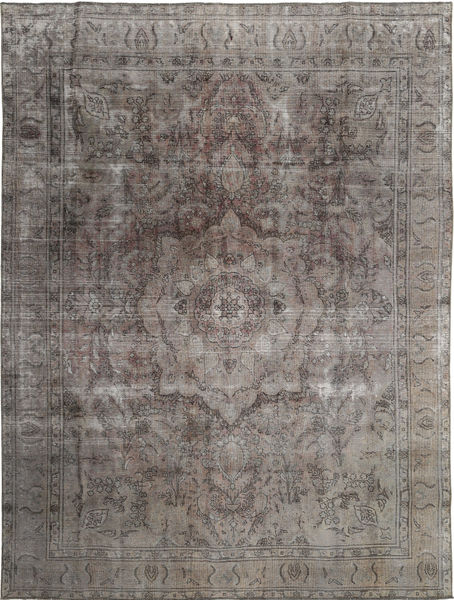 Colored Vintage Rug 282X378 Authentic  Modern Handknotted Dark Grey/Light Grey Large (Wool, Persia/Iran)