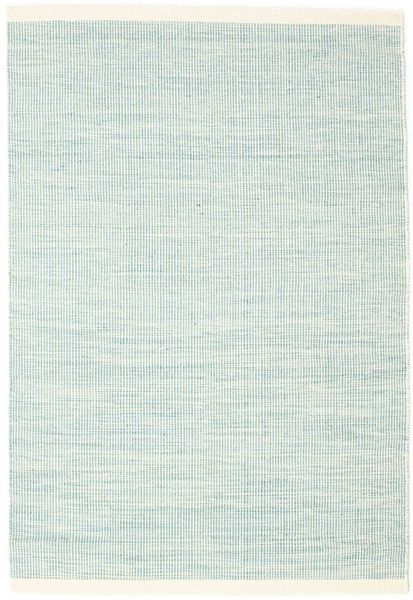 Seaby - Blue Rug 140X200 Authentic  Modern Handwoven Turquoise Blue/White/Creme (Wool, India)