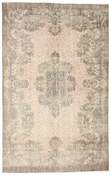 Colored Vintage Rug 187X293 Authentic  Modern Handknotted Light Grey/Beige (Wool, Turkey)