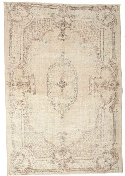 Colored Vintage Rug 192X278 Authentic  Modern Handknotted Beige/Light Grey (Wool, Turkey)