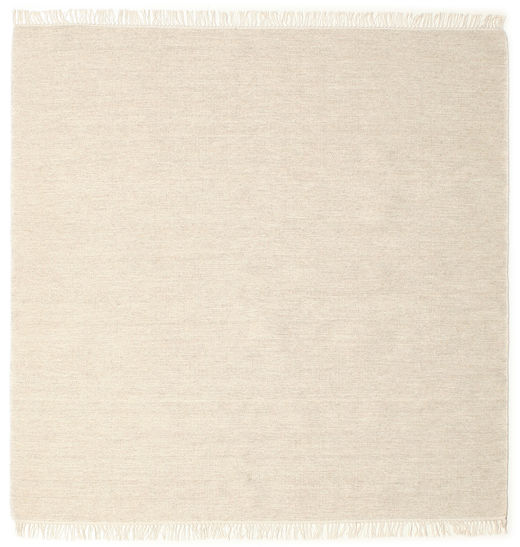 Melange - Sand Rug 200X200 Authentic  Modern Handwoven Square Beige (Wool, India)
