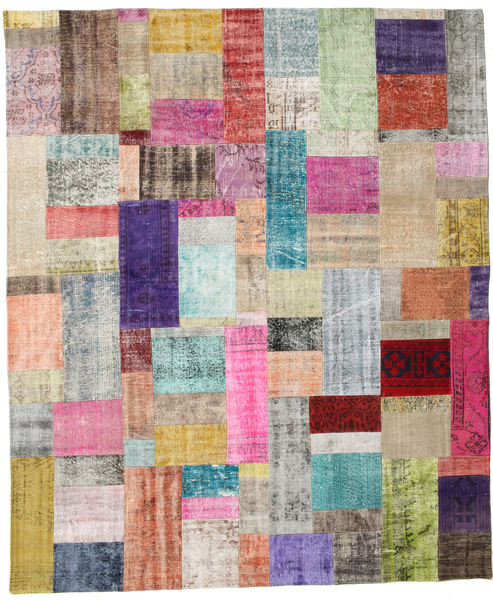Patchwork Rug 252X302 Authentic  Modern Handknotted Light Grey/Light Pink Large (Wool, Turkey)