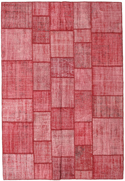 Patchwork Rug 205X300 Authentic  Modern Handknotted Rust Red/Pink (Wool, Turkey)