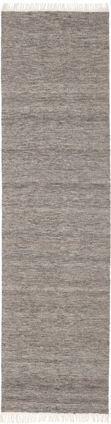 Melange - Brown Rug 80X300 Authentic  Modern Handwoven Hallway Runner  Light Grey/Dark Grey (Wool, India)