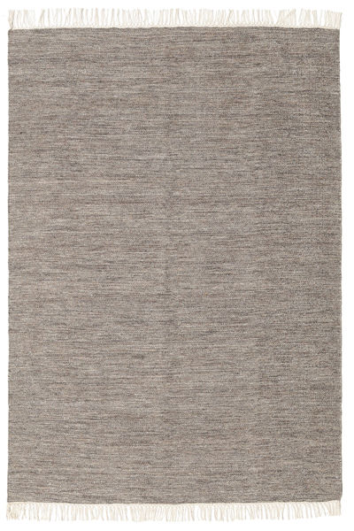 Melange - Brown Rug 140X200 Authentic  Modern Handwoven Light Grey (Wool, India)