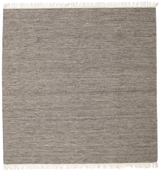 Melange - Brown Rug 200X200 Authentic  Modern Handwoven Square Light Grey/Dark Grey (Wool, India)