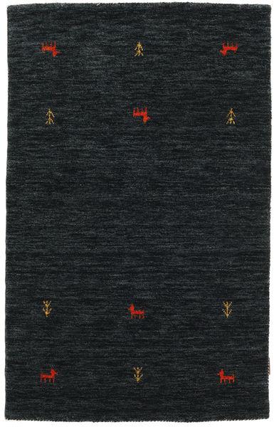 Gabbeh Loom Two Lines - Black/Grey Rug 100X160 Modern Black (Wool, India)