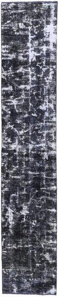 Colored Vintage Rug 70X380 Authentic  Modern Handknotted Hallway Runner  Dark Grey/Light Grey (Wool, Persia/Iran)