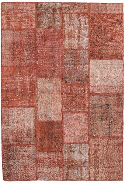 Patchwork Rug 138X202 Authentic  Modern Handknotted Dark Red/Light Pink (Wool, Turkey)