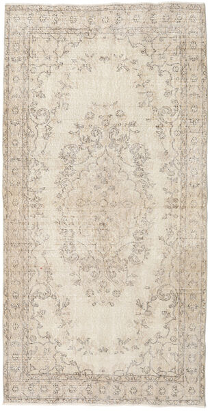 Colored Vintage Rug 109X215 Authentic  Modern Handknotted Light Grey/Beige (Wool, Turkey)
