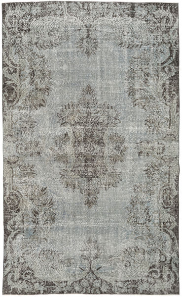 Colored Vintage Rug 170X281 Authentic  Modern Handknotted Dark Grey/Turquoise Blue/Light Grey (Wool, Turkey)