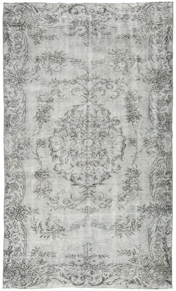 Colored Vintage Rug 149X261 Authentic  Modern Handknotted Light Grey/Turquoise Blue (Wool, Turkey)