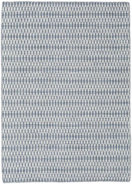 Kilim Long Stitch - Blue Rug 140X200 Authentic  Modern Handwoven Light Blue/White/Creme/Light Grey (Wool, India)