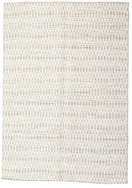 Kilim Long Stitch - Beige Rug 140X200 Authentic  Modern Handwoven Light Grey/Beige (Wool, India)