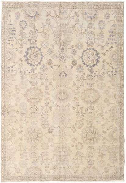 Colored Vintage Rug 186X270 Authentic  Modern Handknotted Beige/Light Grey (Wool, Turkey)