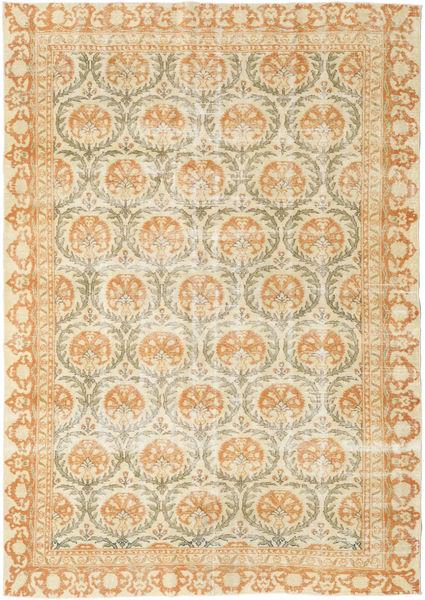 Colored Vintage Rug 207X289 Authentic  Modern Handknotted Dark Beige/Beige (Wool, Turkey)