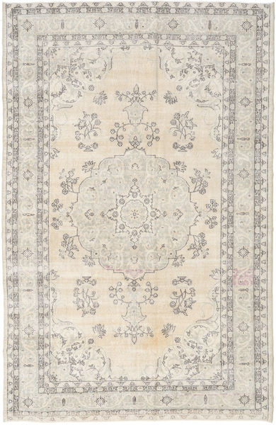 Colored Vintage Rug 206X315 Authentic  Modern Handknotted Light Grey/Beige (Wool, Turkey)