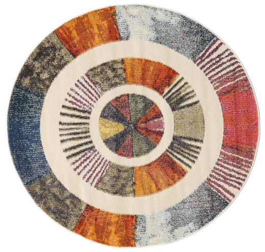 Going Round Rug Ø 150 Modern Round Dark Grey/Beige ( Turkey)