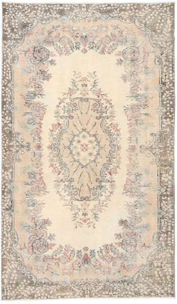 Colored Vintage Rug 118X203 Authentic  Modern Handknotted Light Grey/Beige (Wool, Turkey)