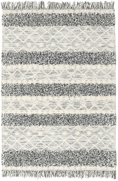 Kilim Berber Ibiza - Black And White Mix Rug 140X200 Authentic  Modern Handwoven Light Grey/Dark Beige (Wool, India)