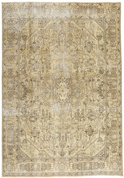 Colored Vintage Rug 200X288 Authentic  Modern Handknotted Olive Green/Dark Beige (Wool, Persia/Iran)