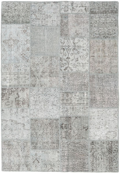Patchwork Rug 158X230 Authentic  Modern Handknotted Light Grey (Wool, Turkey)