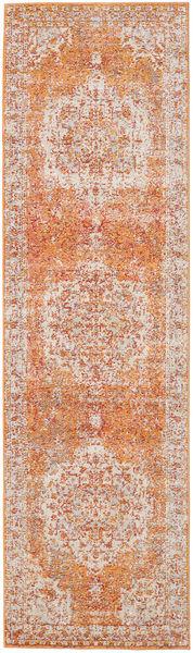 Nadia - Orange Rug 80X300 Modern Hallway Runner  Dark Brown/Rust Red ( Turkey)