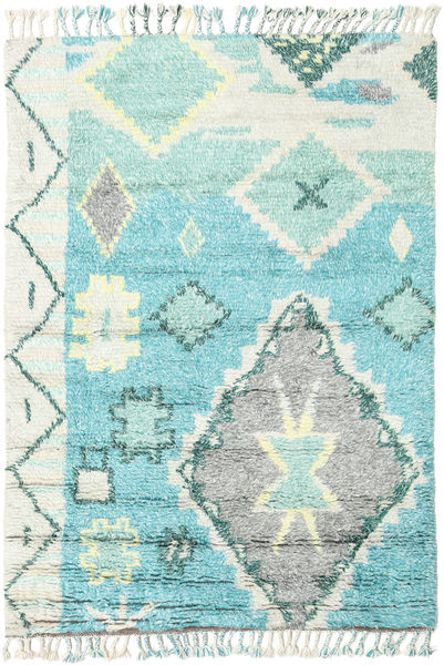 Odda - Turquoise Rug 160X230 Authentic  Modern Handknotted Light Grey/Turquoise Blue (Wool, India)