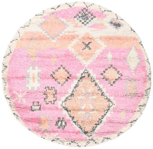 Odda - Pink Rug Ø 200 Authentic  Modern Handknotted Round Light Pink/Beige (Wool, India)
