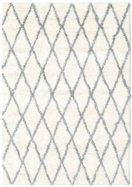 Queens - Grey - Comb. Rug 140X200 Modern Beige/Light Grey (Wool, India)