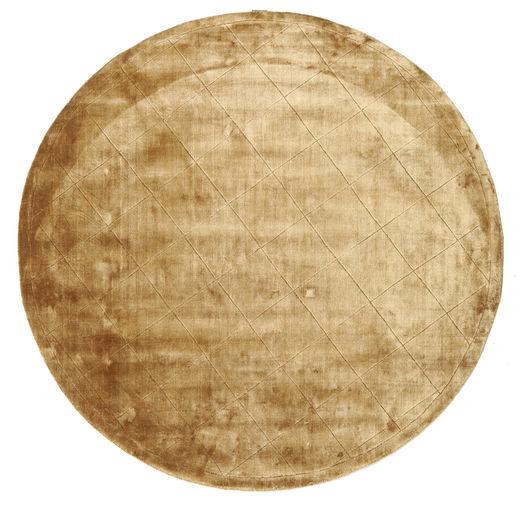 Brooklyn - Gold Rug Ø 200 Modern Round Light Brown/Dark Beige ( India)