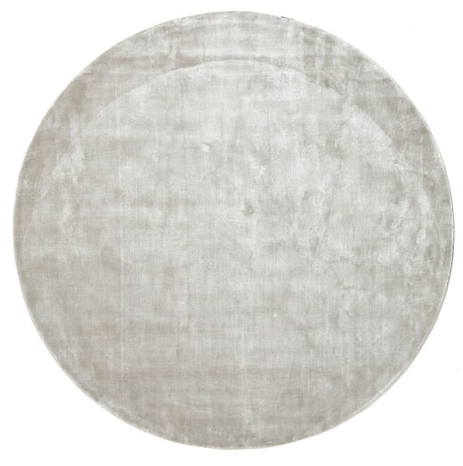 Broadway - Silver White Rug Ø 200 Modern Round Light Grey ( India)