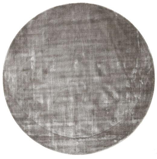 Broadway - Soft Grey Rug Ø 200 Modern Round Light Grey/Dark Grey ( India)