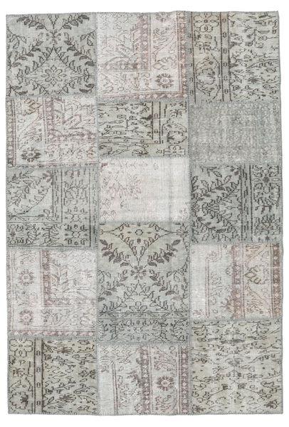 Patchwork Rug 158X231 Authentic  Modern Handknotted Light Grey/Dark Grey (Wool, Turkey)