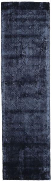 Brooklyn - Midnight Blue Rug 80X300 Modern Hallway Runner  Dark Blue/Blue ( India)