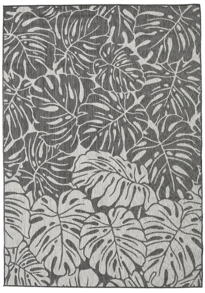 Monstera - Dark Grey/Light Grey Rug 120X180 Modern Dark Grey/Light Grey ( Turkey)