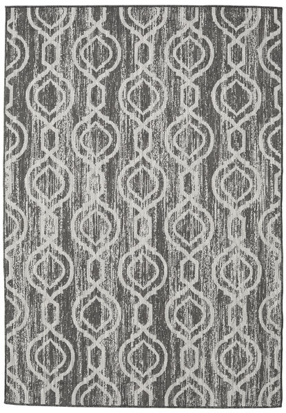 Chain - Dark Grey/Beige Rug 120X180 Modern Light Grey/Dark Grey ( Turkey)