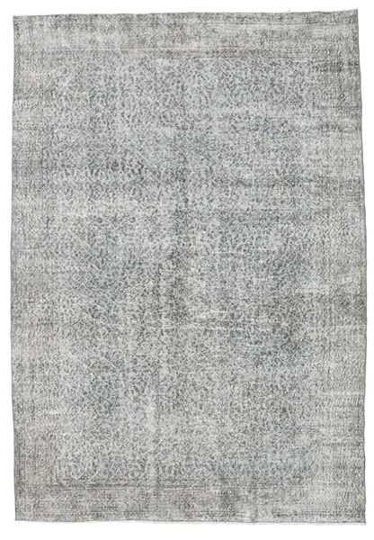 Colored Vintage Rug 210X305 Authentic  Modern Handknotted Light Grey (Wool, Turkey)