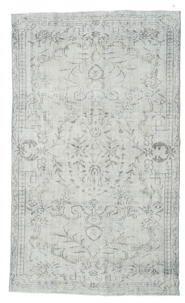 Colored Vintage Rug 156X260 Authentic  Modern Handknotted Light Grey (Wool, Turkey)