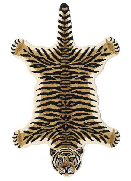 Tiger - Beige Rug 100X160 Modern Dark Blue/Light Brown (Wool, India)