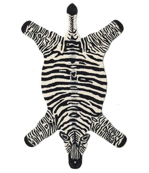 Zebra Rug 100X155 Modern Black/Beige (Wool, India)