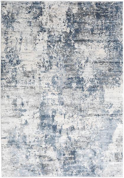 Triad - Grey/Blue Rug 200X290 Modern White/Creme/Light Blue ( Turkey)