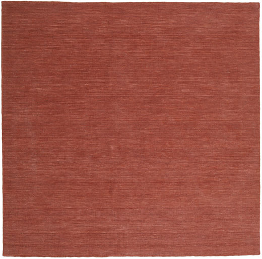 Kilim Loom - Rust Rug 250X250 Authentic  Modern Handwoven Square Dark Red Large (Wool, India)