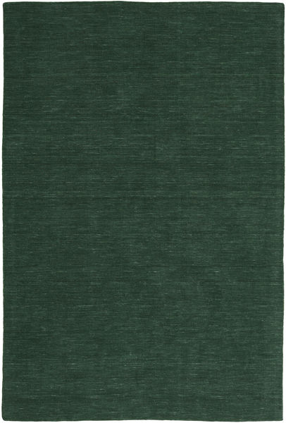 Kilim Loom - Forest Green Rug 250X350 Authentic  Modern Handwoven Dark Green Large (Wool, India)